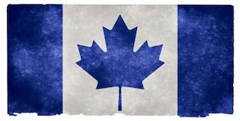 canada grunge flag   blue