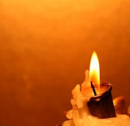 candle   aflame
