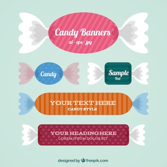 Candy banners