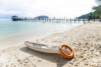Canoe with dock