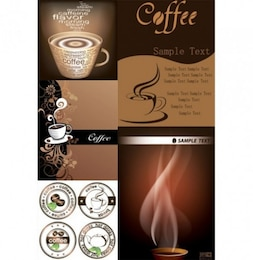 Cappuccino aroma banner deluxe coffee