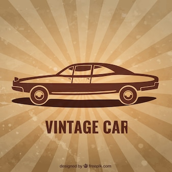 Car in vintage style