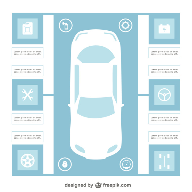 Car infographic template