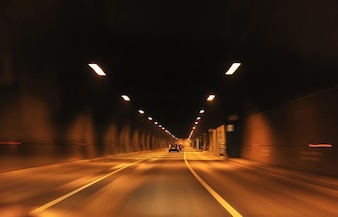 Car inside of a tunnel