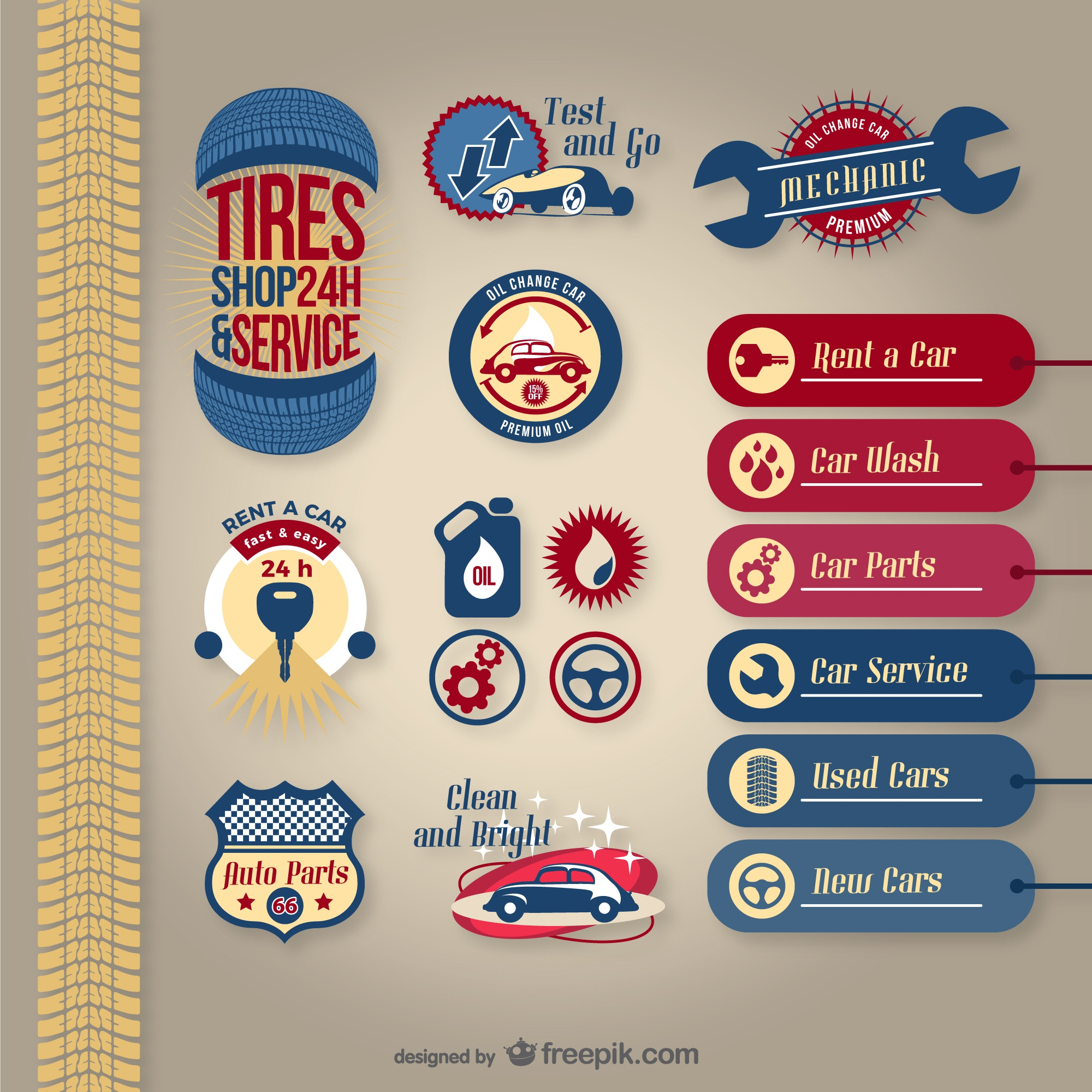 Car service vector pack
