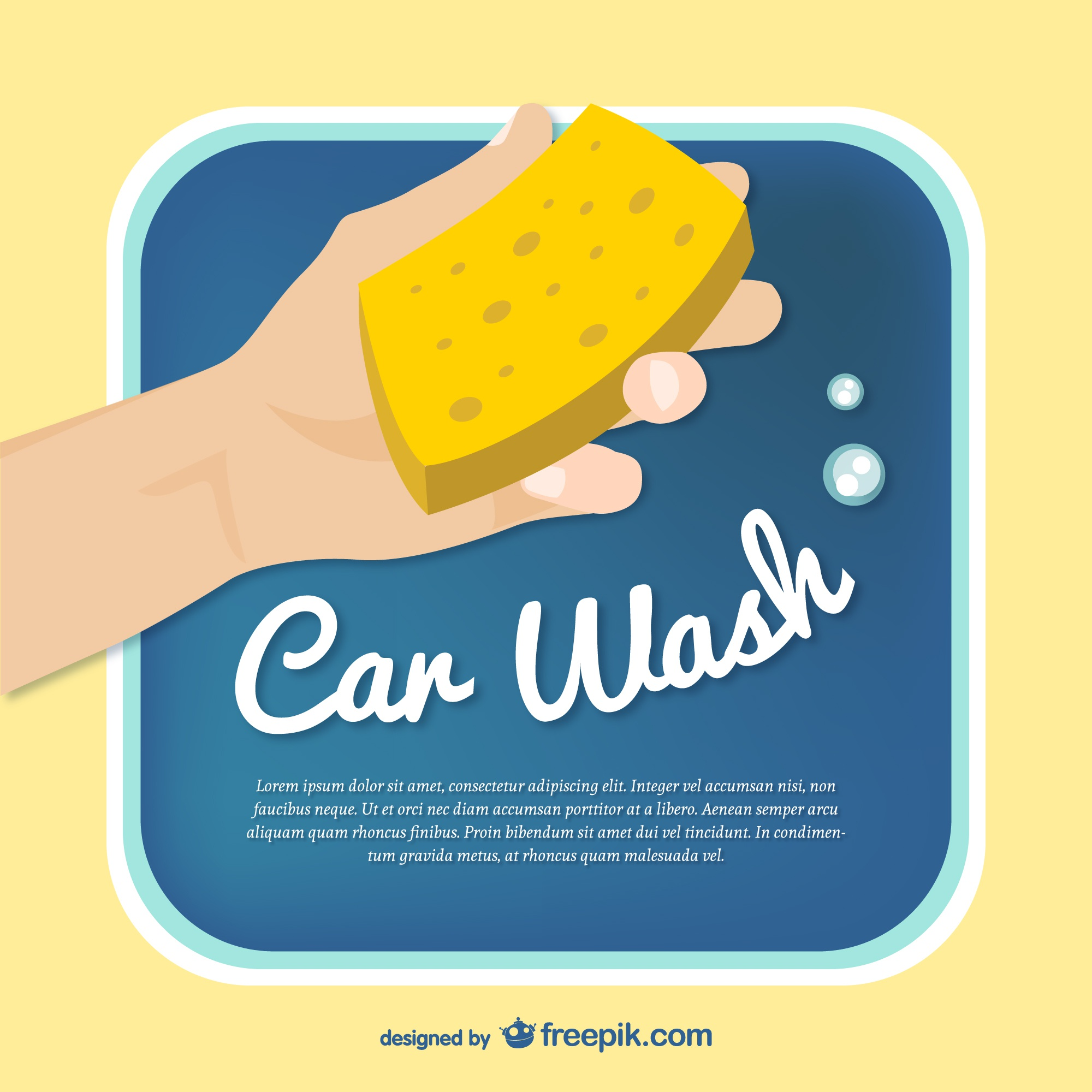 Car wash template vector