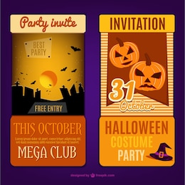Card invitation template for halloween party