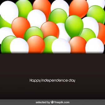 Card of India Independece day with balloons
