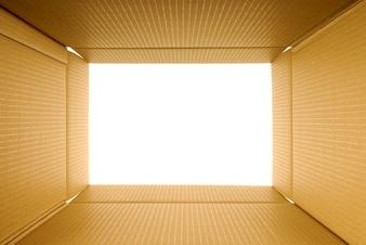 Cardboard box inside view