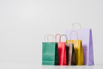 Cardboard shopping bags