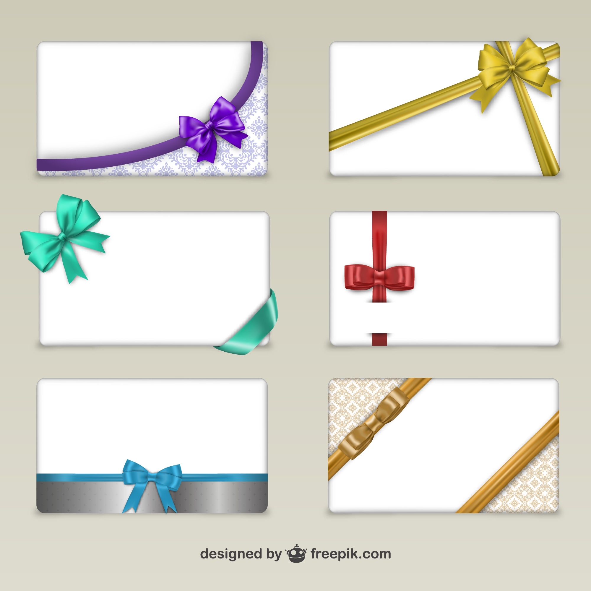 Cards with ribbons for Black Friday