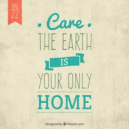 Care the earth
