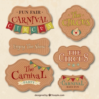 Carnival and circus badges