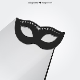 Carnival mask with diamonds
