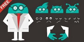 Cartoon alien doctor character