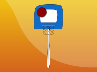 Cartoon basketball hoop