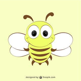 Cartoon bee icon