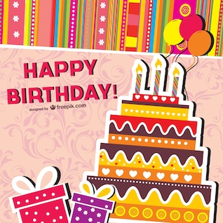cartoon birthday cards    vector