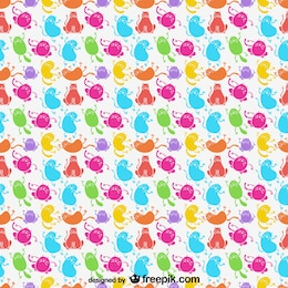 Cartoon cats vector pattern