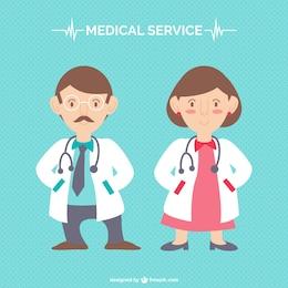 Cartoon characters doctors