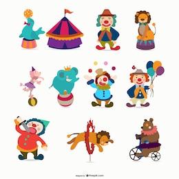 cartoon circus   vector