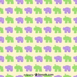 Cartoon elephants vector pattern