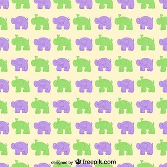 Cartoon elephants vector pattern