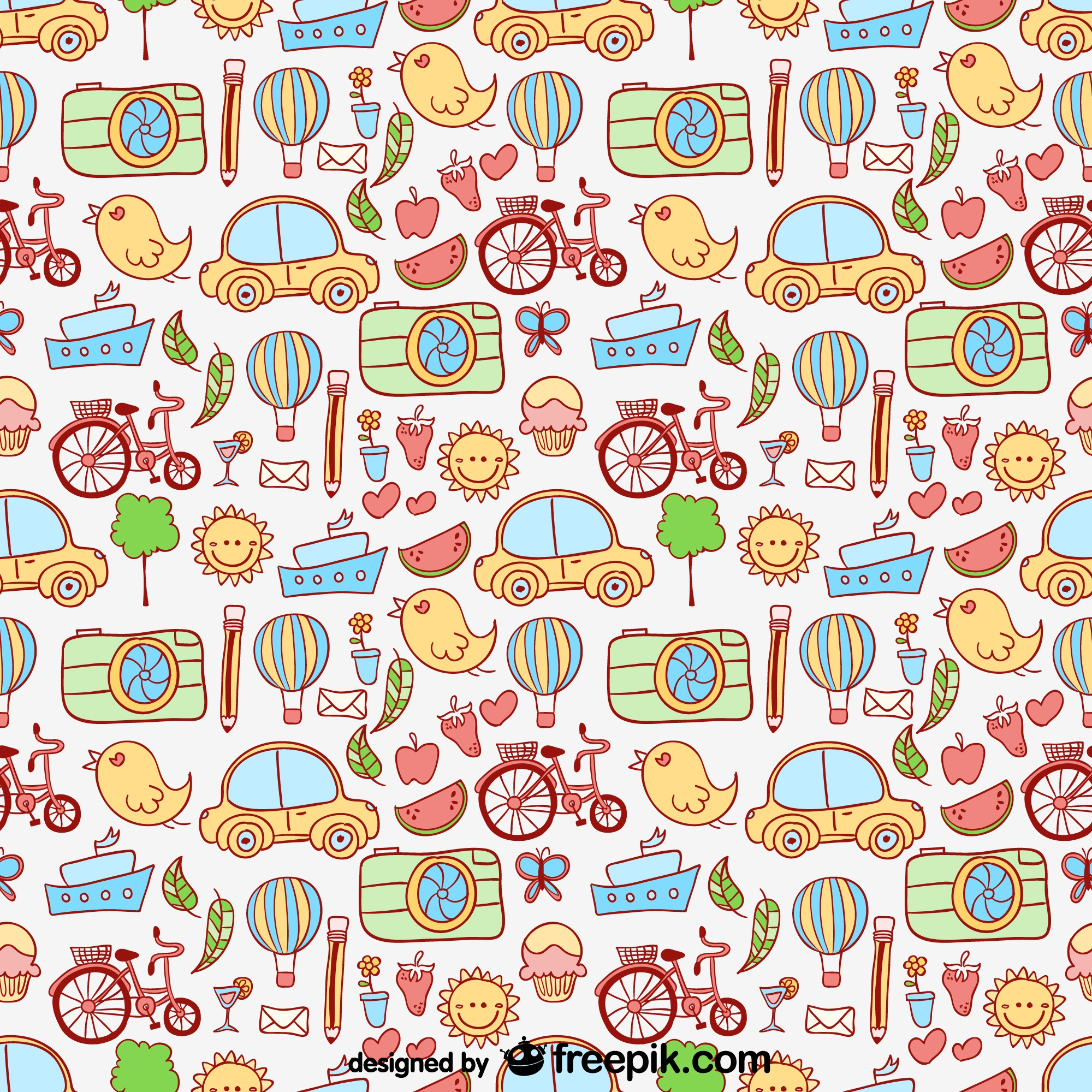 Cartoon graphics vector pattern