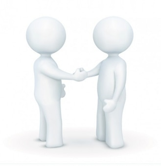 cartoon handshake creative character vector
