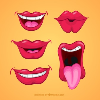 Cartoon mouths