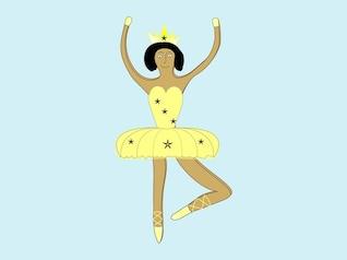 cartoon of a ballet dancer