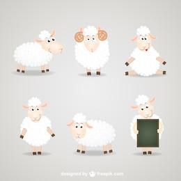 Cartoon sheep collection
