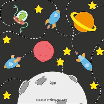 Cartoon solar system