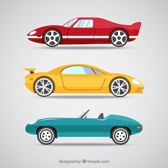 Cartoon sport cars