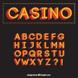 Casino typography