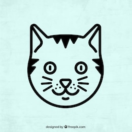 Cat vector art free download