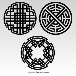Celtic knots tribal elements