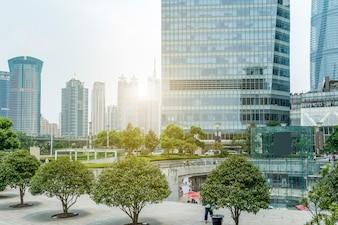Cement futuristic oriental surface downtown urban