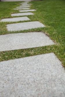 Cement walkway in the garden