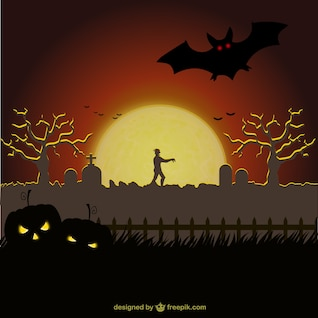 Cemetery background for Halloween