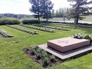 Cemetery in finland