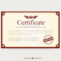 Certificate template layout