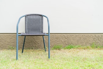 Chair with empty wall