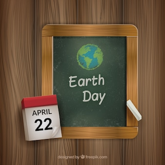 Chalk Drawn Earth Day