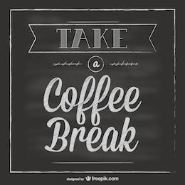 Chalkboard coffee break vector