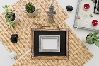Chalkboard with photo frame