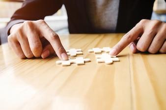 挑戦アイデアゲーム木製の1つの企業
