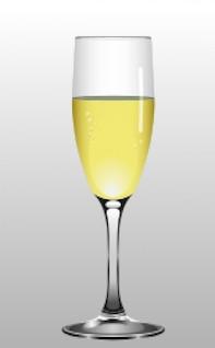 Champagne goblet vector