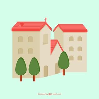 Chapel vector scene
