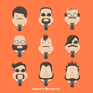 Character men faces